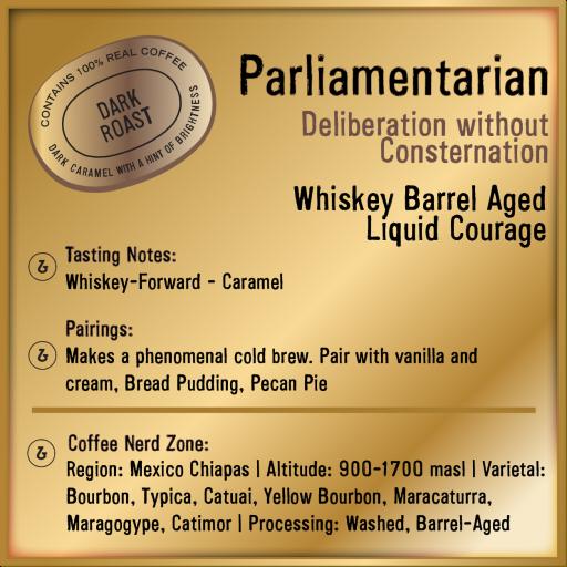 Parliamentarian Whiskey Barrel-Aged