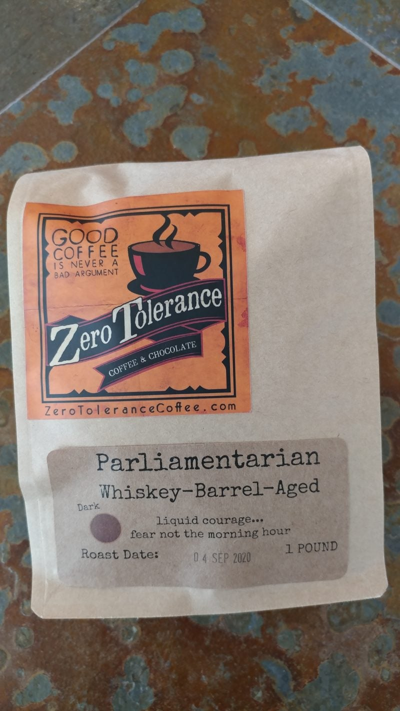 Parliamentarian Whiskey Barrel Aged Dark Roasted Craft Coffee
