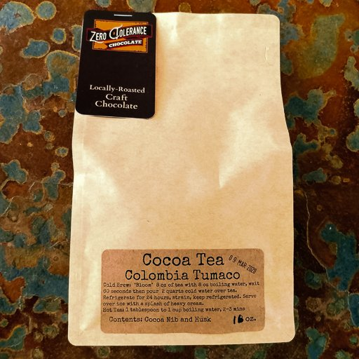 Single Origin Columbian Tumaco Chocolate Cacao Or Cocao Tea Husks