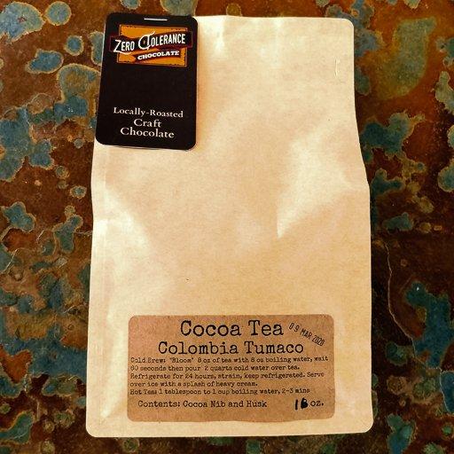 Single Origin Columbian Tumaco Chocolate Cacao Or Cocao Tea Husks