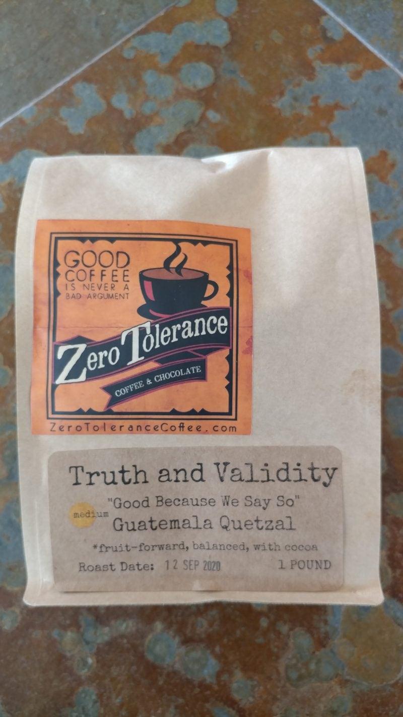Truth And Validity Medium Roasted Craft Coffee