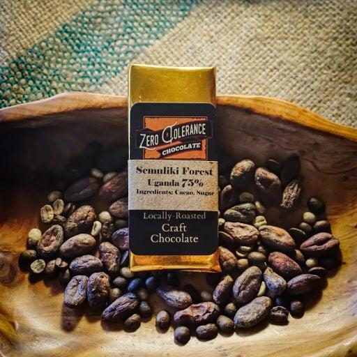 Craft Dark Chocolate Candy Bar Ugandan Semuliki Forest 75 Percent