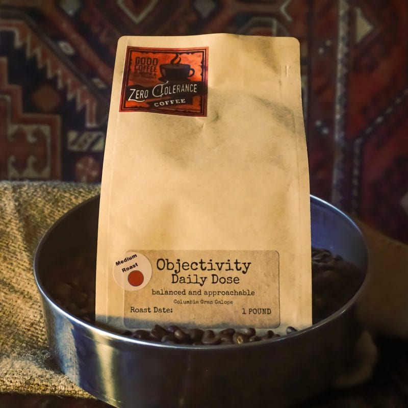 Objectivity Medium Roast Colombian Single Origin Whole Bean Coffee