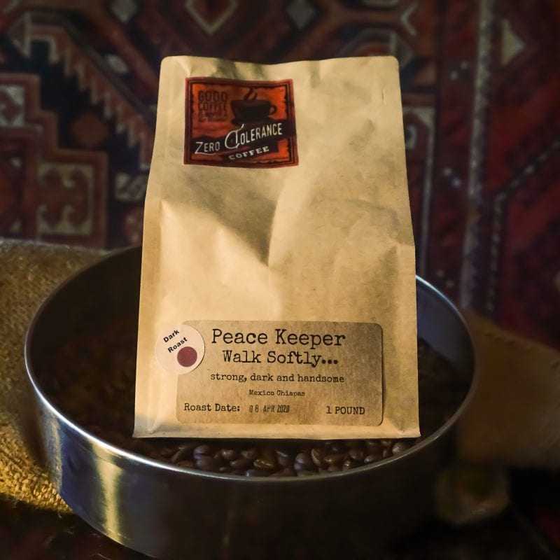 Peace Keeper Dark Roast Mexican Single Origin Whole Bean Coffee
