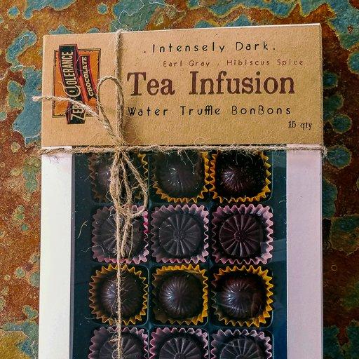 Zero Tolerance Tea Infusion Dark Chocolate Bon Bons With Hibiscus And Earl Grey Gift Box